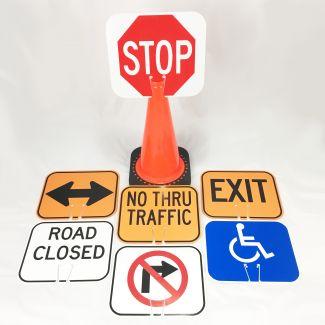 Plastic Cone Signs