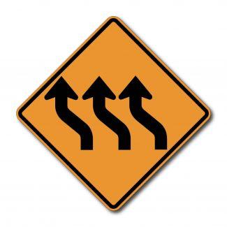 CW1-4C Three Lane Reverse Curve Arrow