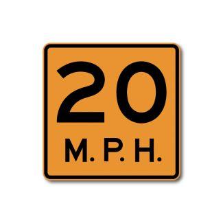 CW13-1P Advisory Speed Limit
