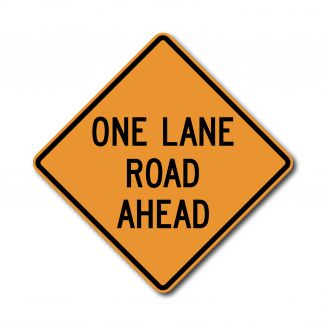 CW20-4 One Lane Road Ahead
