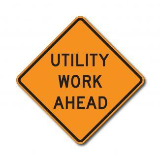 CW21-7 Utility Work Ahead