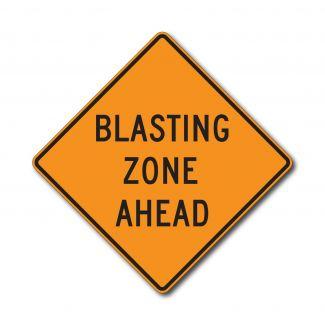 CW22-1 Blasting Zone Ahead