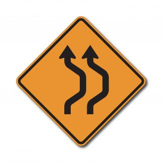 CW24-1a Two Lane Double Reverse Curve