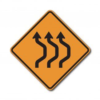 CW24-1b Three Lane Double Reverse Curve