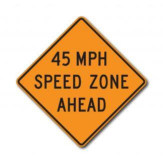 CW3-5a XX MPH Speed Zone Ahead