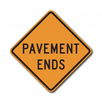 CW8-3 Pavement Ends