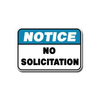 IS-106 Notice - No Solicitation
