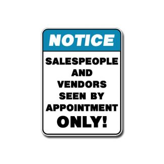 IS-113 Notice - Salespeople by Appointment Only