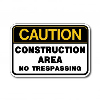 IS-120 Caution - Construction Area No Trespassing