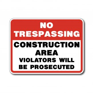 IS-128 No Trespassing Construction Area