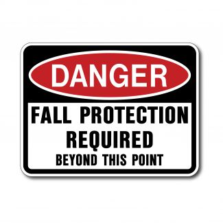 IS-142 Danger - Fall Protection Required