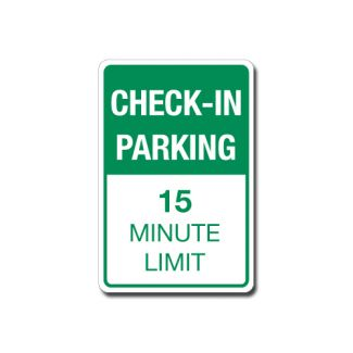 Check-In Parking - 15 Minute Limit