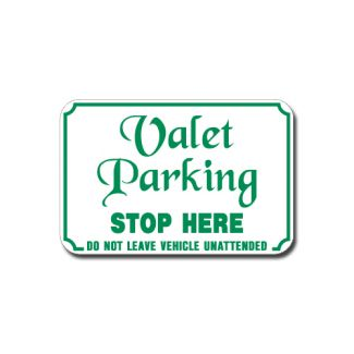 Valet Parking Stop Here