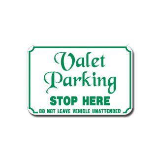 Valet Parking Stop Here