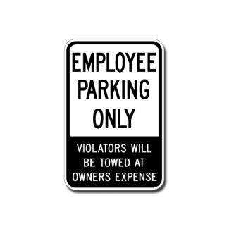 IS-16 Employee Parking Only, Violators Will Be Towed at Owners Expense