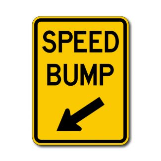 IS-38 Speed Bump Sign