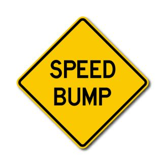 IS-41 Speed Bump Sign