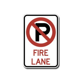 IS-71 No Parking Fire Lane (Symbol)
