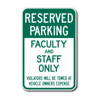 IS-77 Reserved Parking, Faculty and Staff Only