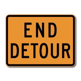 M4-8A End Detour Sign