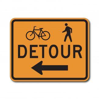 M4-9a Bike & Pedestrian Detour Left/Right Arrow