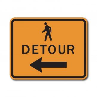 M4-9b Pedestrian Detour Left/Right Arrow