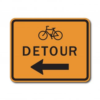 M4-9cL/R Bike Detour Left/Right Arrow