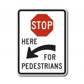 R1-5C Stop Here at Pedestrians