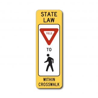 R1-6 State Law Yield To Pedestrians