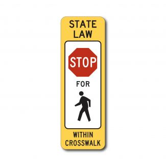 R1-6a State Law Stop For Pedestrians