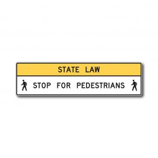 R1-9A State Law Stop for Pedestrians