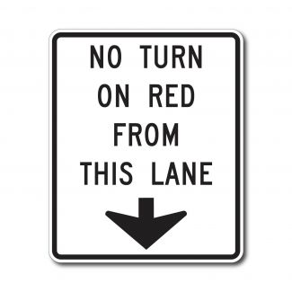 R10-11d No Turn On Red Except This Lane