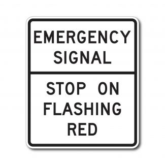 R10-14 Emergency Signal, Stop On Flashing Red