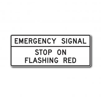 R10-14a Emergency Signal Stop on Flashing Red