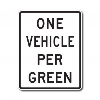 R10-28 One Vehicle Per Green