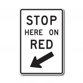 R10-6L/R Stop Here on Red
