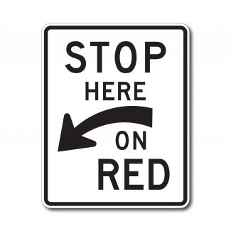 R10-6A Stop Here on Red (Arrow)