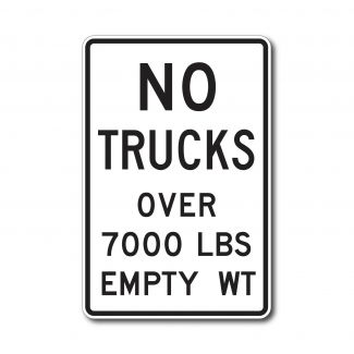 R12-3 No Trucks Over XX lbs. Empty Weight (Variable)