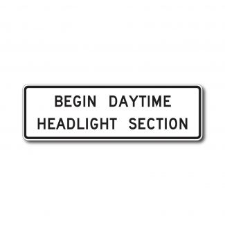 R16-10 Begin Daytime Headlight Section