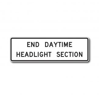 R16-11 End Daytime Headlight Section