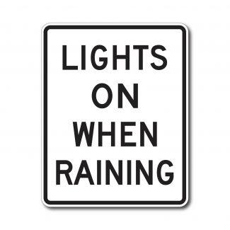 R16-6 Lights On When Raining
