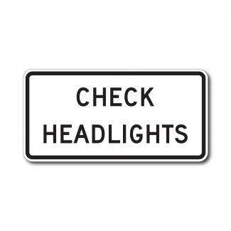 R16-9 Check Headlights