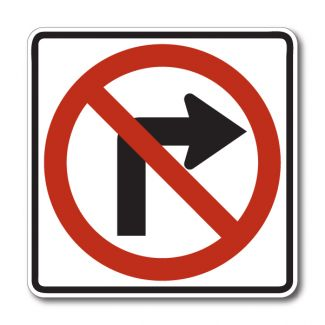 R3-1 No Right Turn Symbol