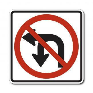 R3-18 No Left/U-Turn