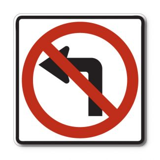R3-2  No Left Turn Symbol