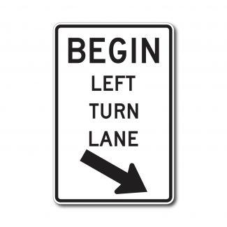 R3-20 Begin Turn Lane