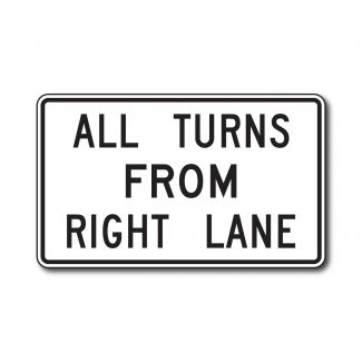 R3-23 All Turns From Right Lane