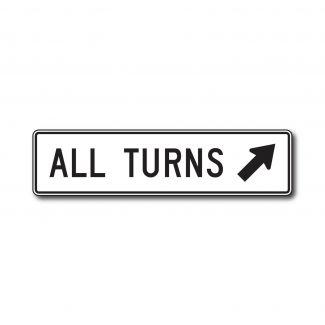R3-24 All Turns (w/ Arrow)