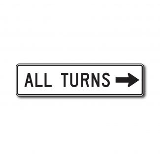 R3-25 All Turns (w/ Arrow)