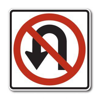 R3-4 No U-Turn Symbol